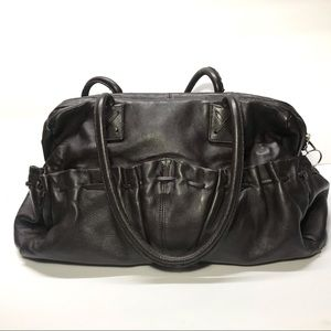 Chi by Carlos Falchi Brown Leather Bag Tote